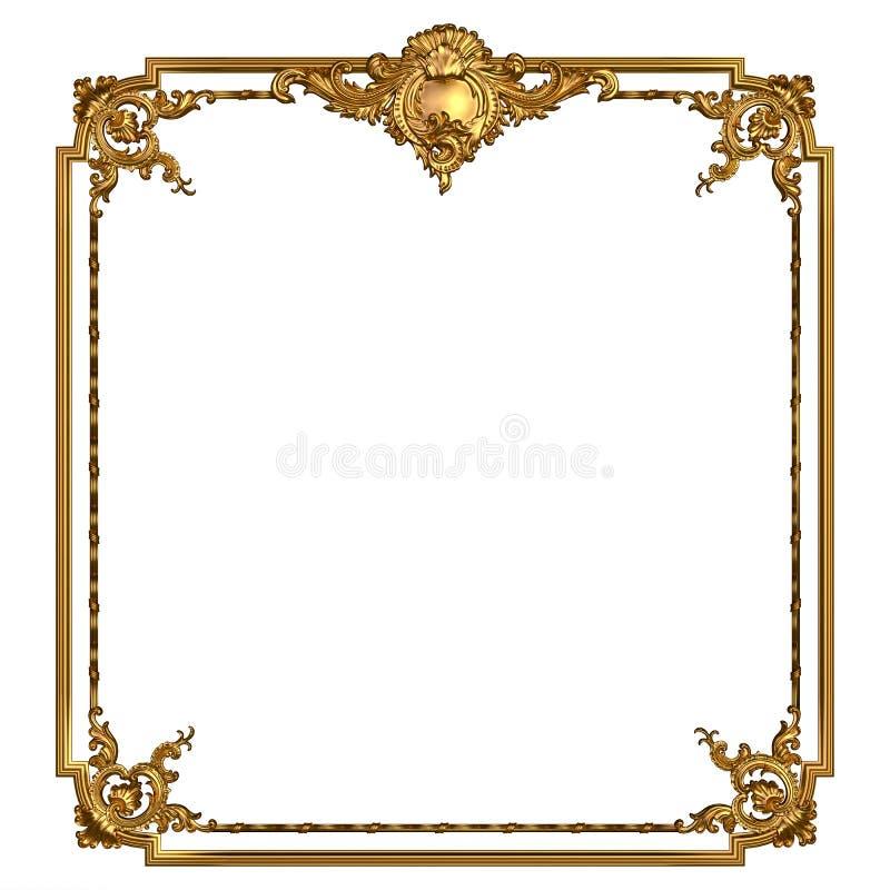 Εκλεκτής ποιότητας χρυσό πλαίσιο με το κενό διάστημα στοκ φωτογραφίες