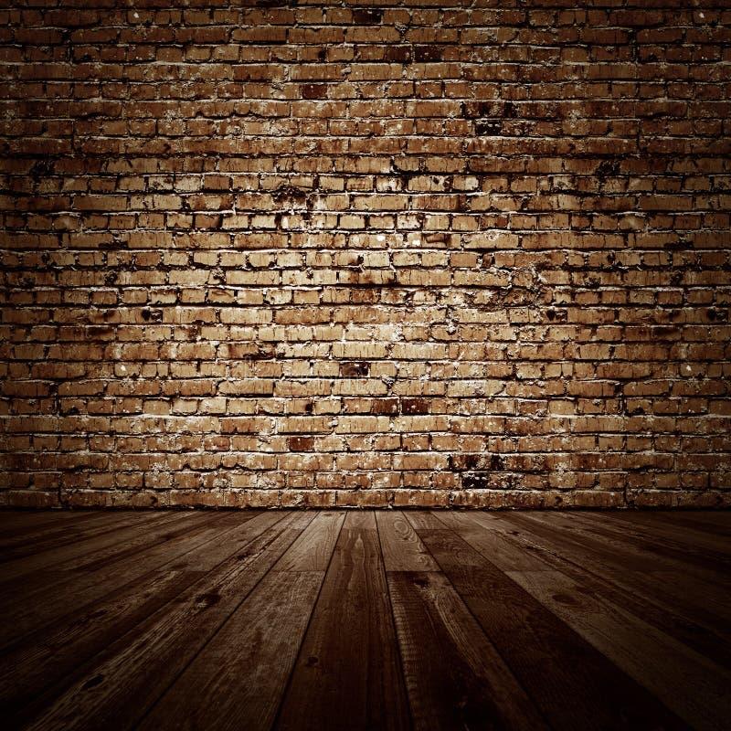 Εκλεκτής ποιότητας δωμάτιο brickwall διανυσματική απεικόνιση