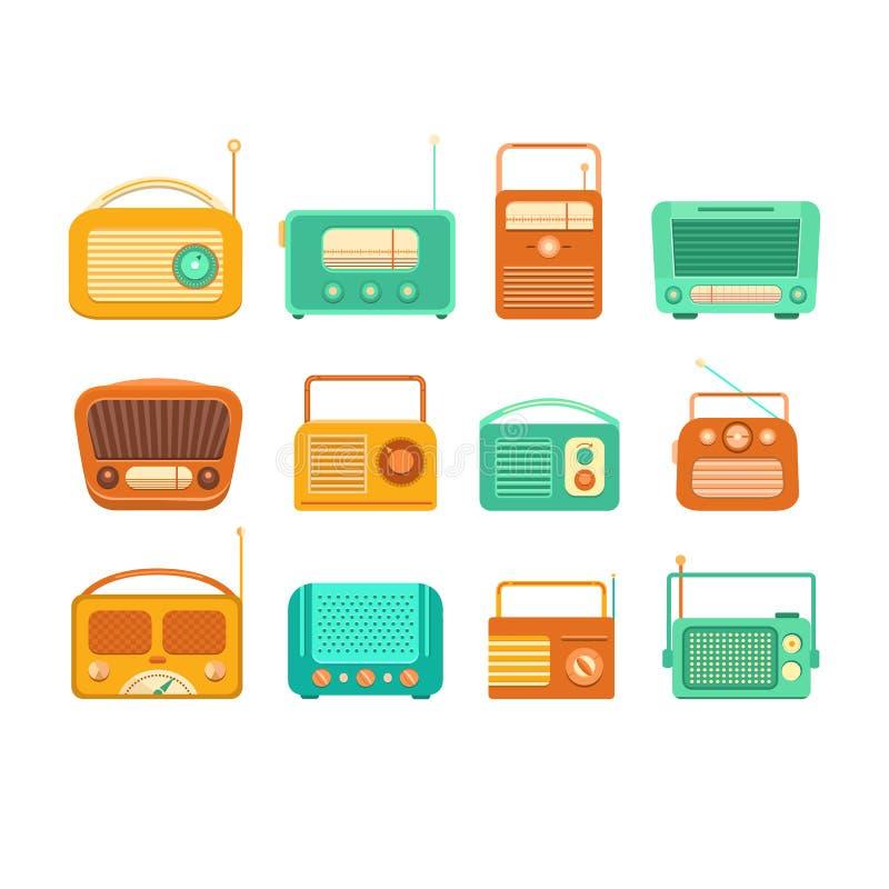 Εκλεκτής ποιότητας όργανο καταγραφής και ραδιόφωνο ταινιών απεικόνιση αποθεμάτων