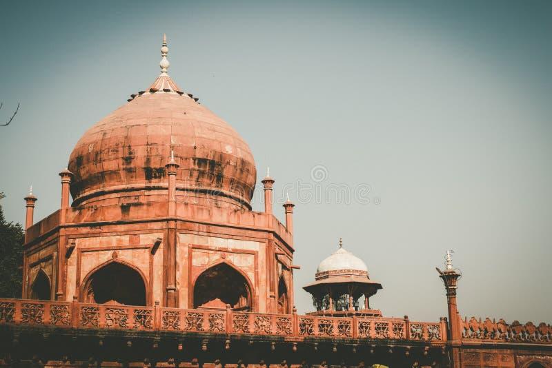 Εκλεκτής ποιότητας ύφος ταινιών στο Taj Mahal στην Ινδία στοκ φωτογραφία με δικαίωμα ελεύθερης χρήσης