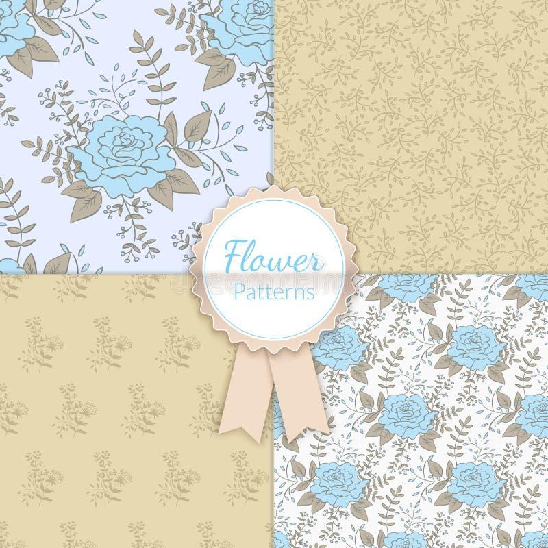 Εκλεκτής ποιότητας Floral άνευ ραφής συλλογή σχεδίων ελεύθερη απεικόνιση δικαιώματος