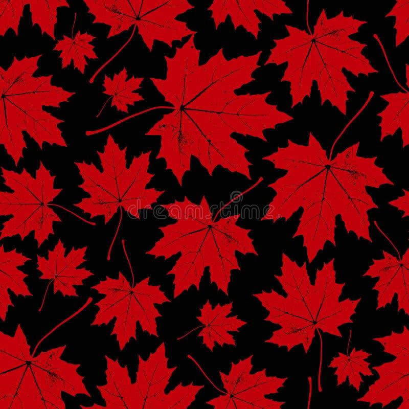 Εκλεκτής ποιότητας floral άνευ ραφής σχέδιο φθινοπώρου (πτώση) με τα φύλλα σφενδάμου απεικόνιση αποθεμάτων