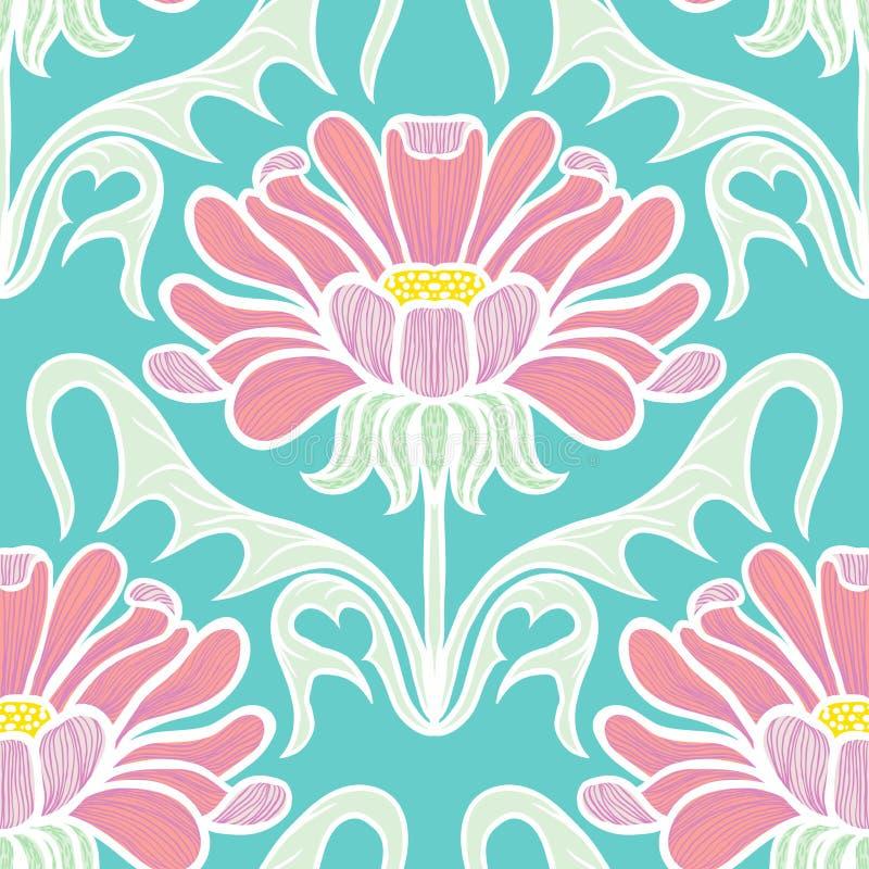 Εκλεκτής ποιότητας floral άνευ ραφής σχέδιο απεικόνιση αποθεμάτων
