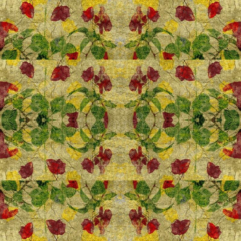 Εκλεκτής ποιότητας Floral γεωμετρικό άνευ ραφής σχέδιο διανυσματική απεικόνιση