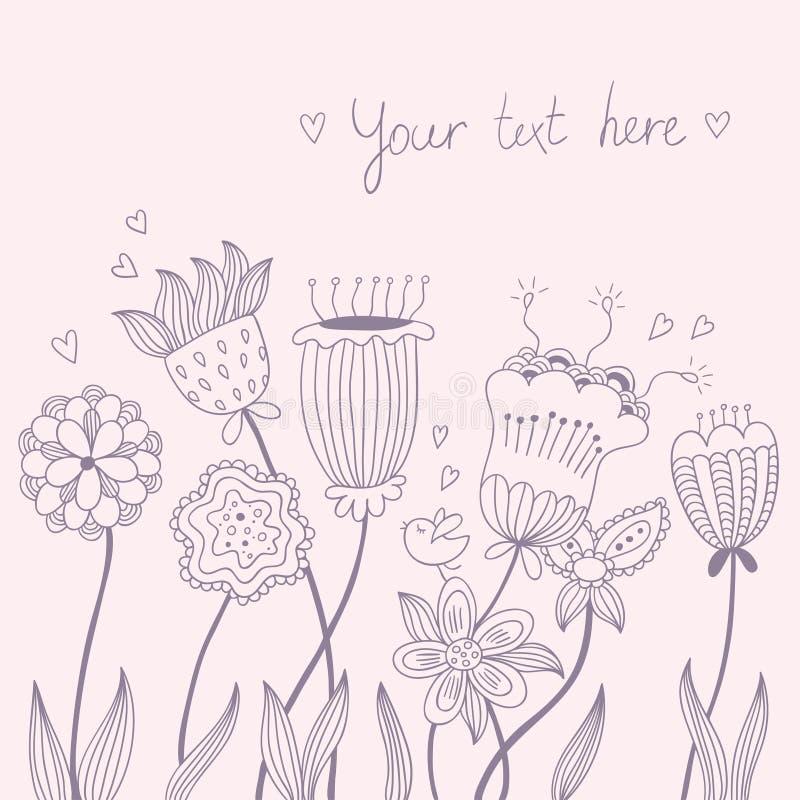 Εκλεκτής ποιότητας floral υπόβαθρο απεικόνιση αποθεμάτων