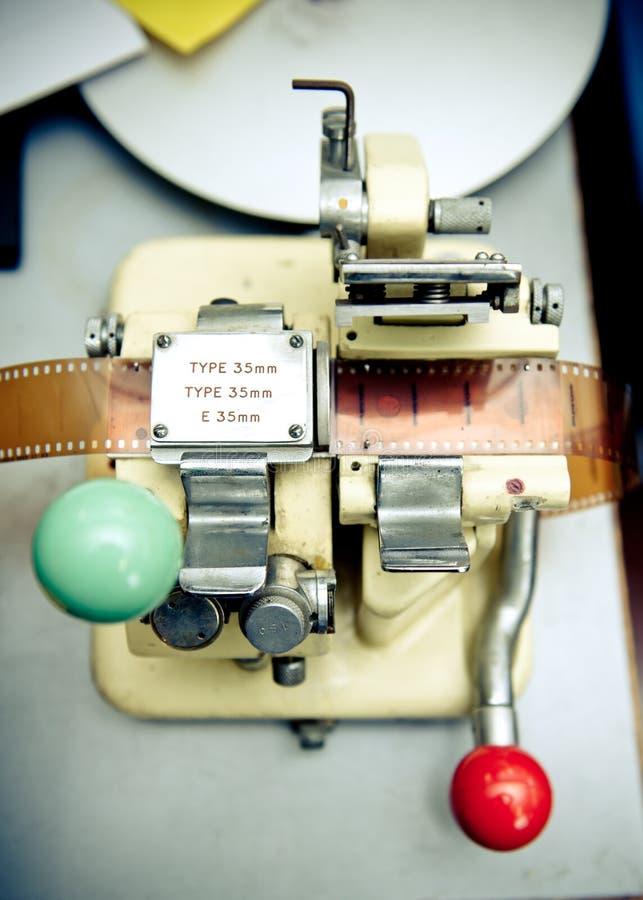 Εκλεκτής ποιότητας splicer κινηματογράφων 35 χιλ. στενός επάνω στοκ εικόνα