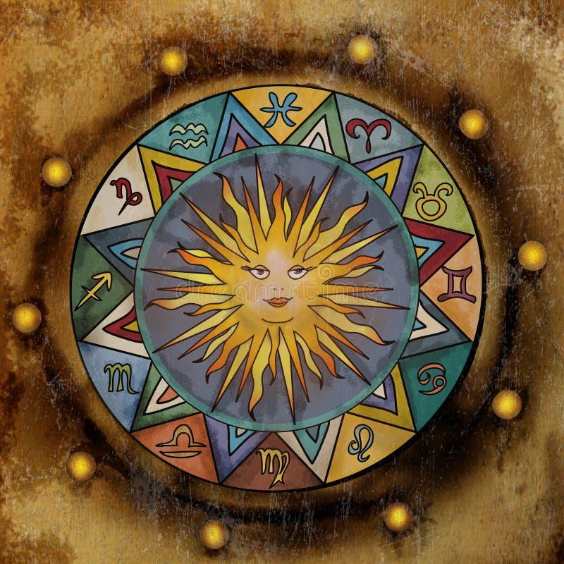 Εκλεκτής ποιότητας zodiac σημάδια απεικόνιση αποθεμάτων