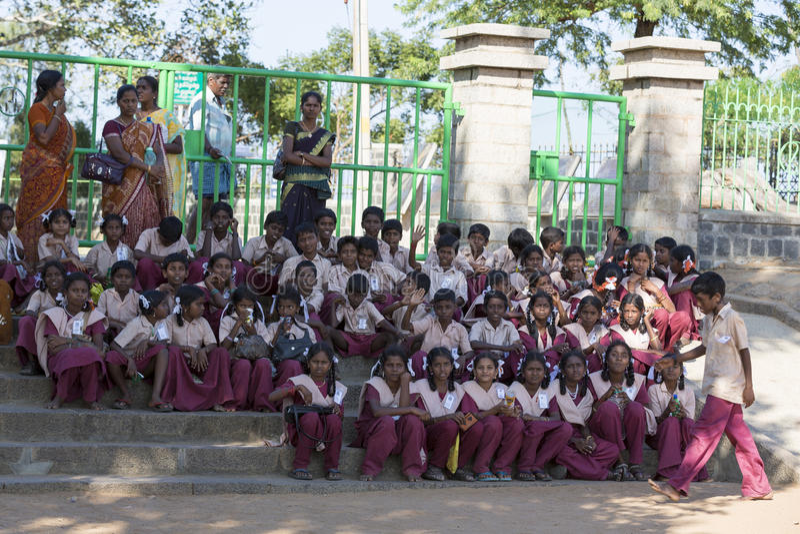 Εκδοτική αποδεικτική εικόνα Παιδιά σχολείου στοκ εικόνες