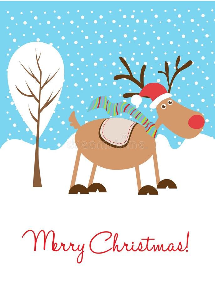 ελάφια Χριστουγέννων καρ απεικόνιση αποθεμάτων