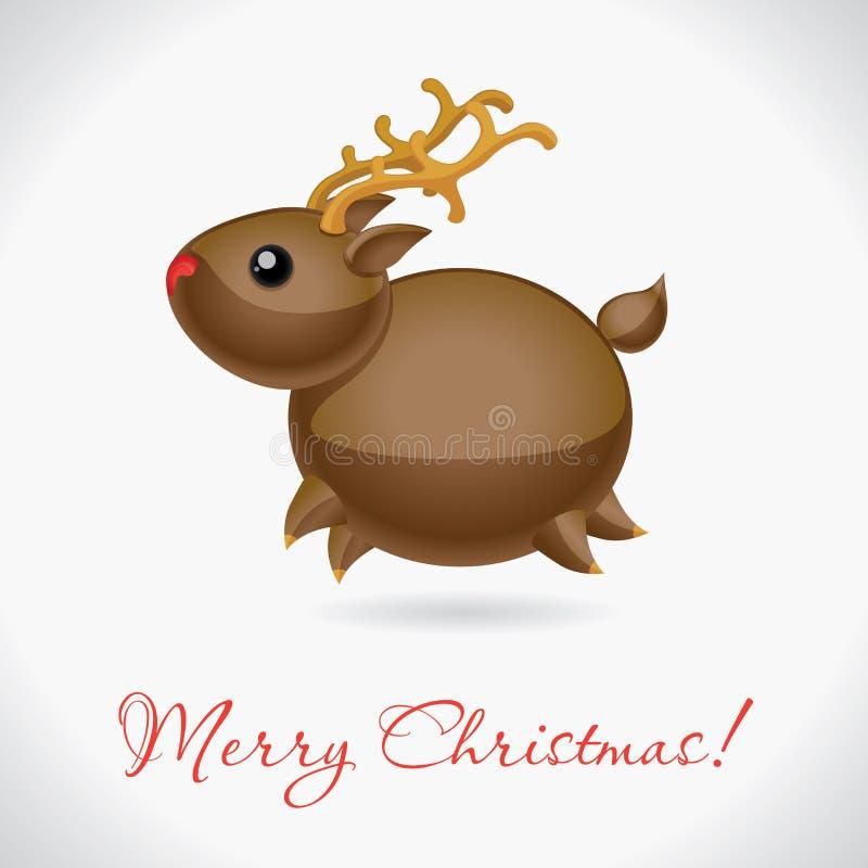 ελάφια Χριστουγέννων διανυσματική απεικόνιση