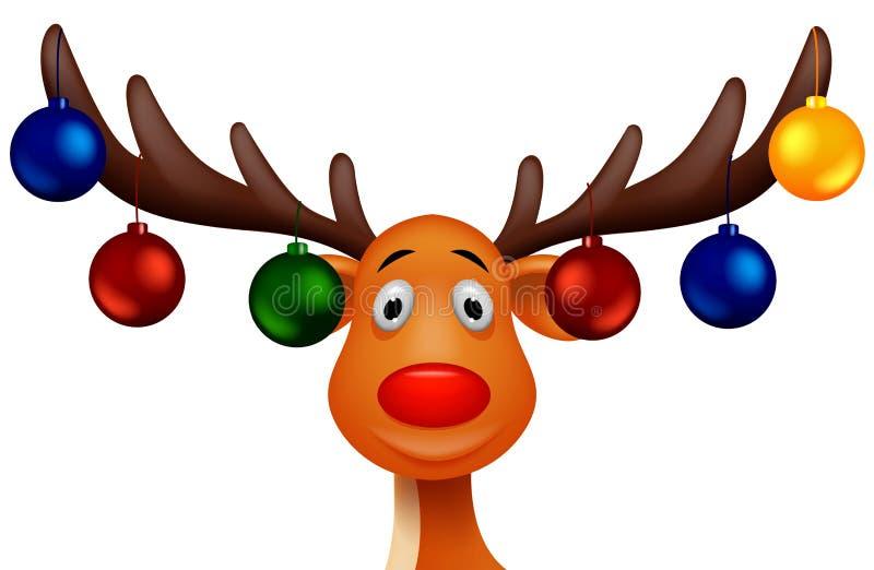 Ελάφια Rudolf διανυσματική απεικόνιση