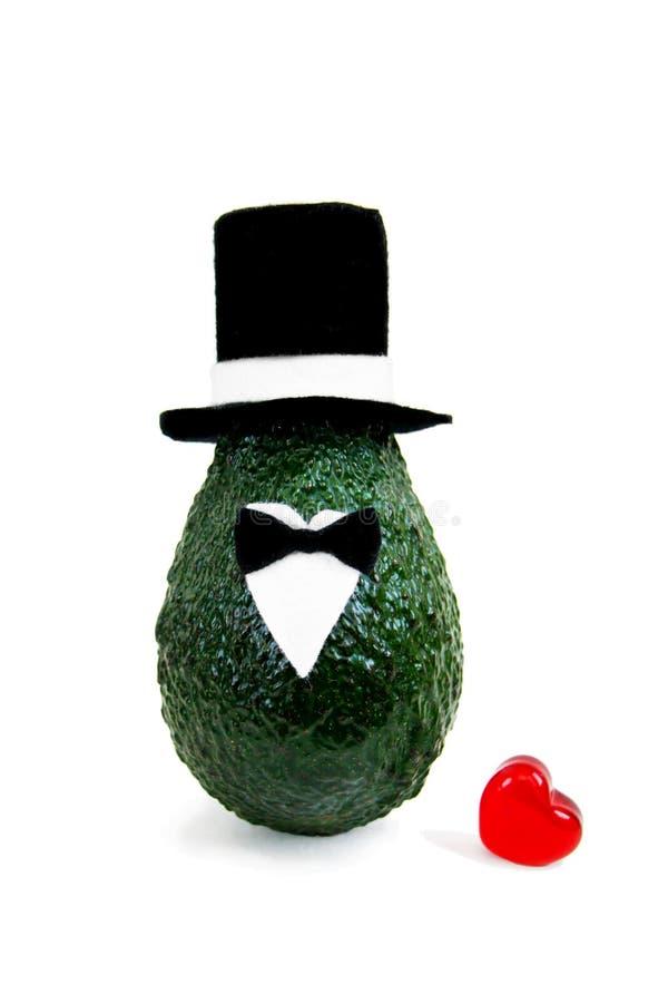 Ελάχιστη αρχική έννοια αβοκάντο για γαμήλιων προσκλήσεων και διακοπών κομμάτων τις ευχετήριες κάρτες ελεύθερη απεικόνιση δικαιώματος