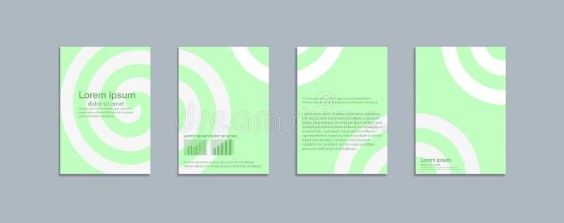 Ελάχιστο διανυσματικό πρότυπο σχεδίου καλύψεων απεικόνιση αποθεμάτων