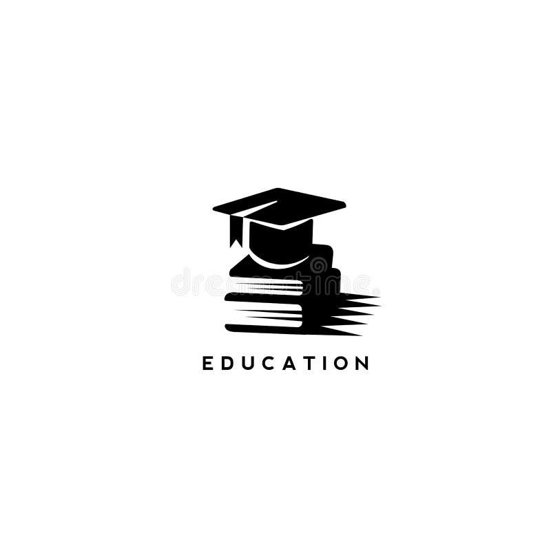 Ελάχιστο λογότυπο της διανυσματικής απεικόνισης εκπαίδευσης απεικόνιση αποθεμάτων