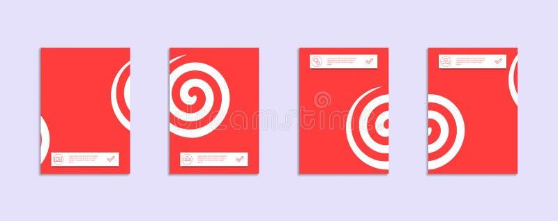 Ελάχιστο πρότυπο σχεδίου καλύψεων διανυσματική απεικόνιση