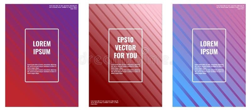 Ελάχιστο σχέδιο καλύψεων για A4 τα σχήματα Eps10 διάνυσμα ελεύθερη απεικόνιση δικαιώματος