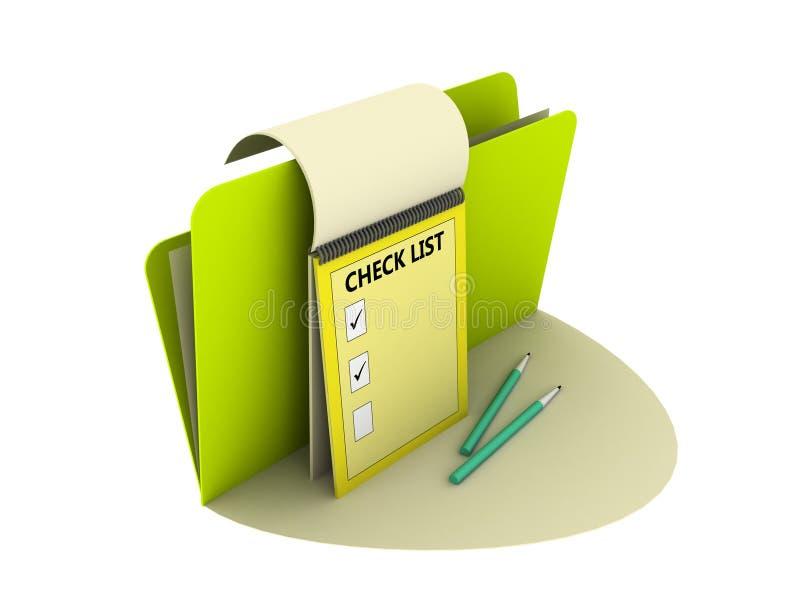 ελέγξτε τον κατάλογο ε&iot ελεύθερη απεικόνιση δικαιώματος