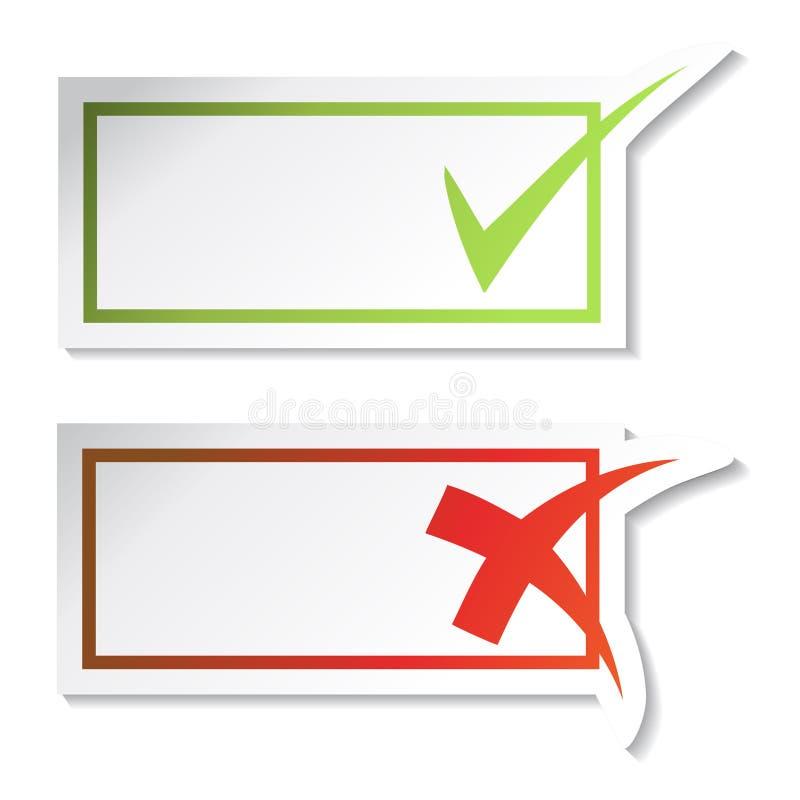 ελέγξτε το διάνυσμα αυτ&omi ελεύθερη απεικόνιση δικαιώματος