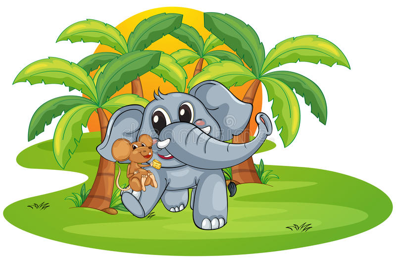 Ελέφαντας και ποντίκι απεικόνιση αποθεμάτων