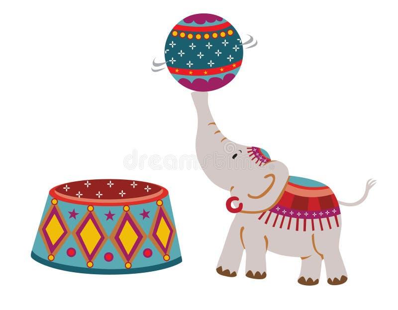 ελέφαντας τσίρκων απεικόνιση αποθεμάτων