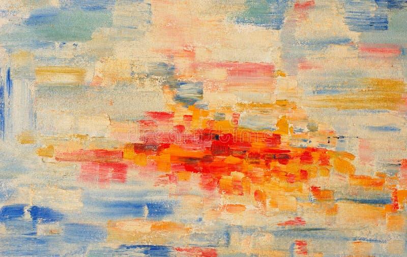 ελαιογραφία χρωμάτων διανυσματική απεικόνιση
