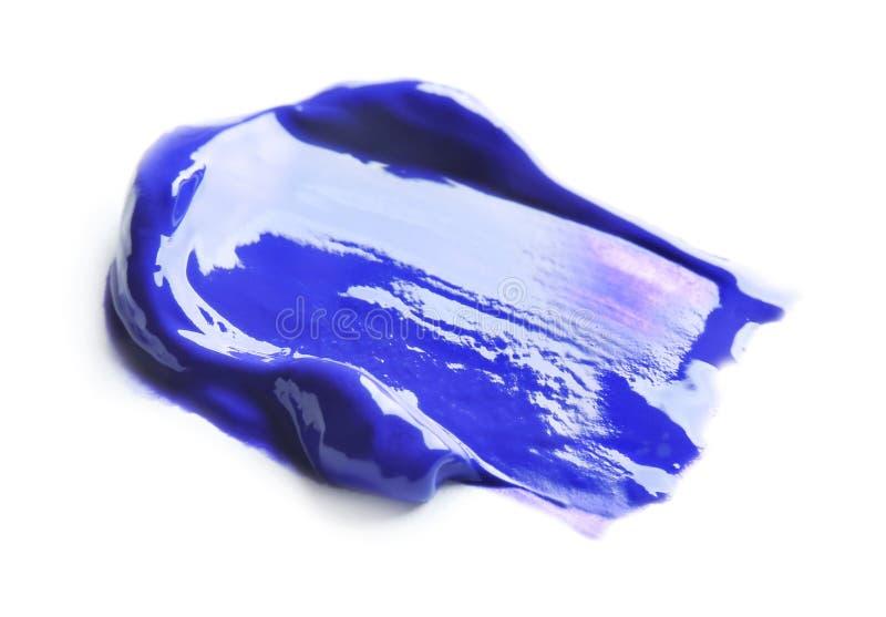 Ελαιούχο χρώμα brushstroke, απομονωμένος στο λευκό στοκ εικόνα