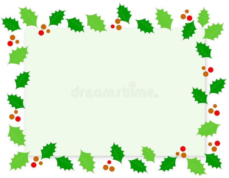 ελαιόπρινος Χριστουγέννων συνόρων απεικόνιση αποθεμάτων