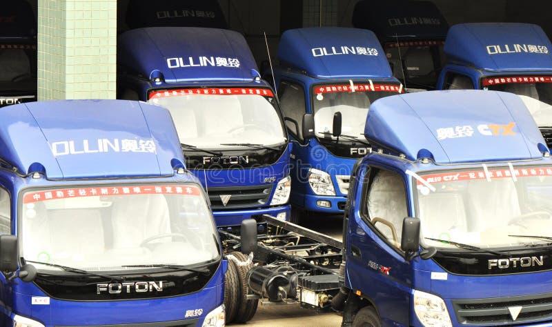 ελαφριά αποθήκη εμπορευμάτων truck ollin στοκ εικόνες