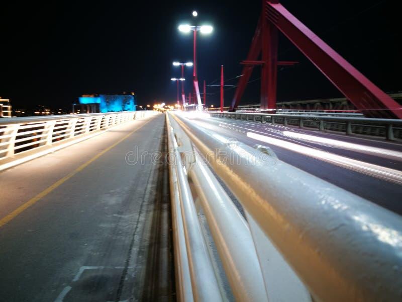 Ελαφριά γέφυρα γραμμών στοκ φωτογραφίες