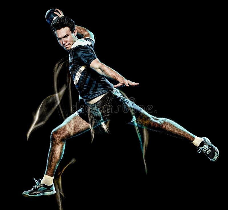 Ελαφριά ζωγραφική ταχύτητας νεαρών άνδρων φορέων χάντμπολ στοκ εικόνα