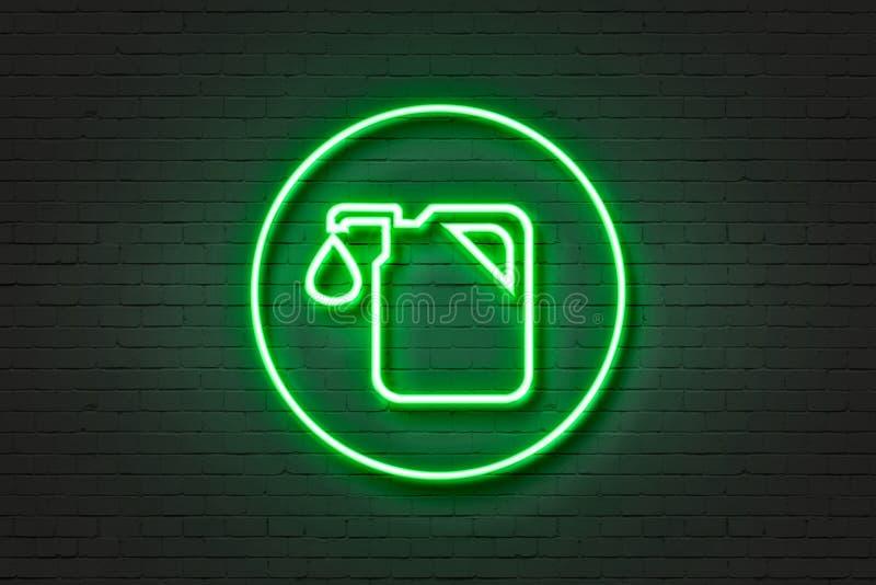 Ελαφριά καύσιμα εικονιδίων νέου διανυσματική απεικόνιση