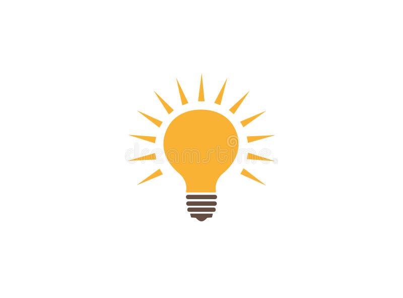 Ελαφριά να λάμψει λαμπτήρων ιδέα για το λογότυπο ελεύθερη απεικόνιση δικαιώματος