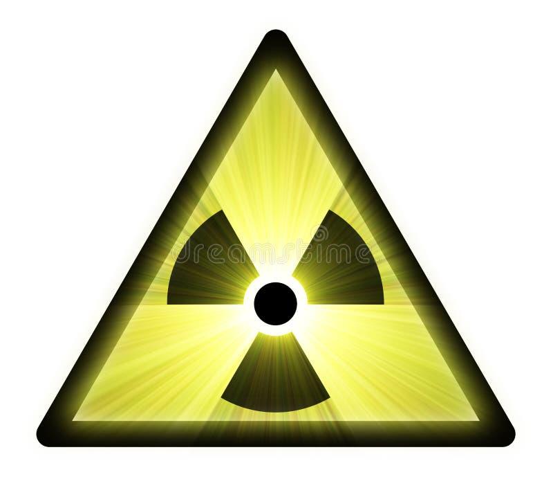 ελαφριά ραδιενεργός προειδοποίηση σημαδιών φλογών ελεύθερη απεικόνιση δικαιώματος