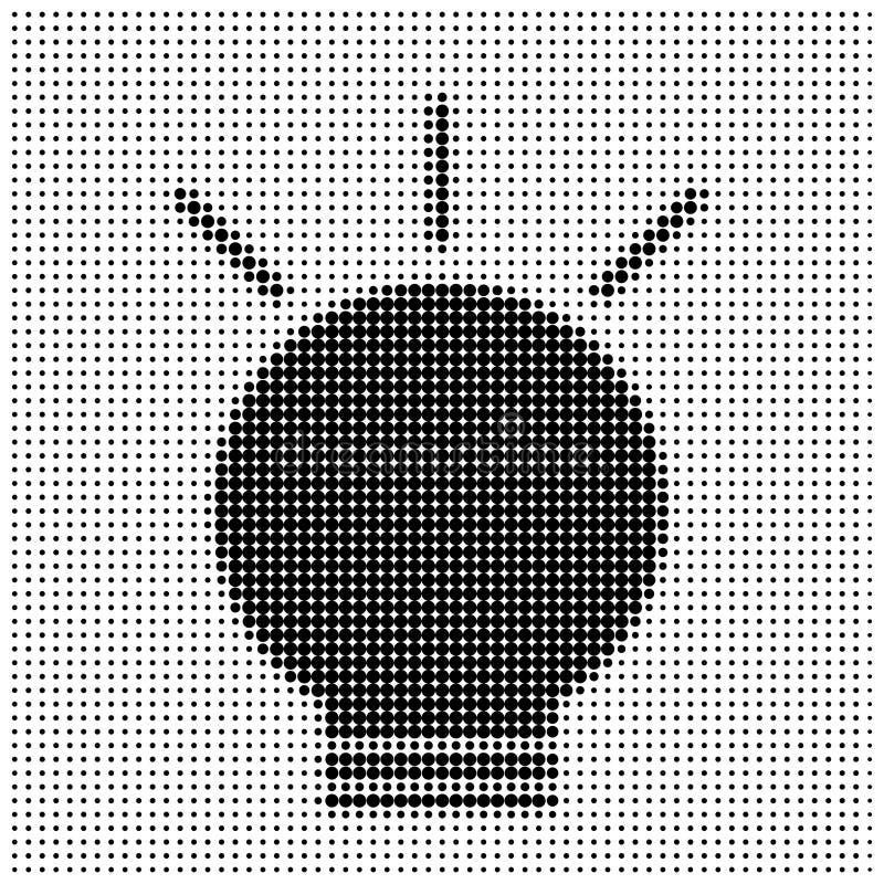 ελαφριά σκιαγραφία βολβών διανυσματική απεικόνιση