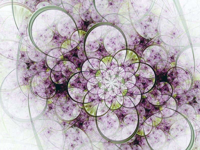 Ελαφριά fractal floral σύσταση διανυσματική απεικόνιση
