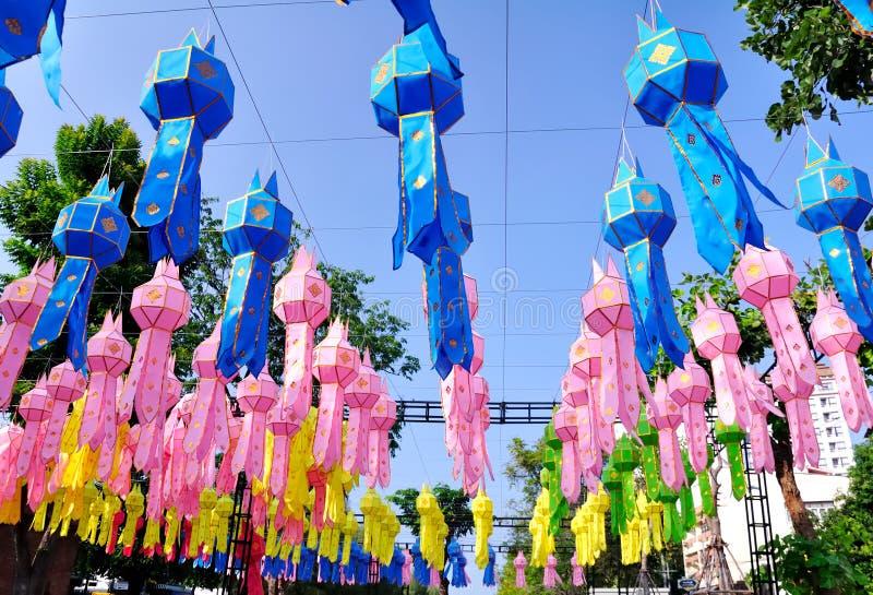 ελαφριά tapae φαναριών πυλών chiangmai στοκ φωτογραφία με δικαίωμα ελεύθερης χρήσης
