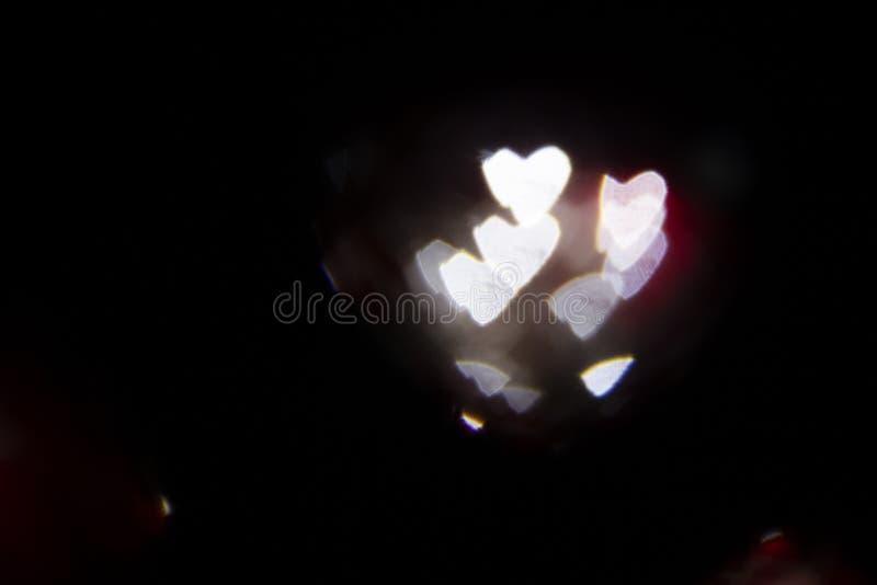 Ελαφριές συστάσεις καρδιών στοκ εικόνα