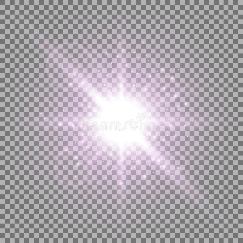 Ελαφρύς κύκλος με τη αίσθηση μαγείας, πορφυρό χρώμα διανυσματική απεικόνιση