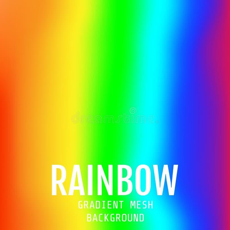 Ελαφρύς πολύχρωμος, διανυσματικό θολωμένο περίληψη υπόβαθρο ουράνιων τόξων E ελεύθερη απεικόνιση δικαιώματος