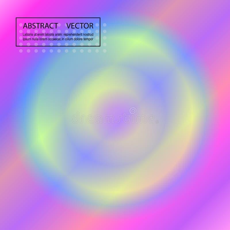 Ελαφρύς πολύχρωμος, διανυσματικό σχεδιάγραμμα ουράνιων τόξων με τις μορφές κύκλων ελεύθερη απεικόνιση δικαιώματος
