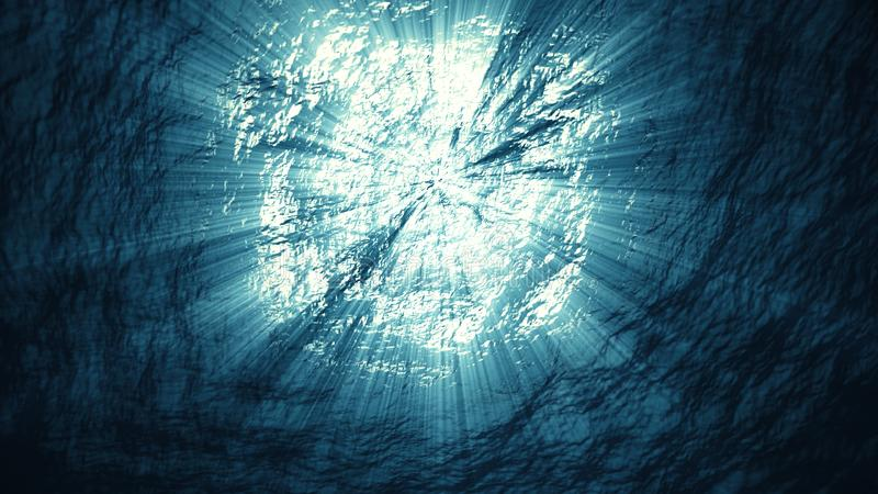 ελαφρύς υποβρύχιος στοκ φωτογραφία