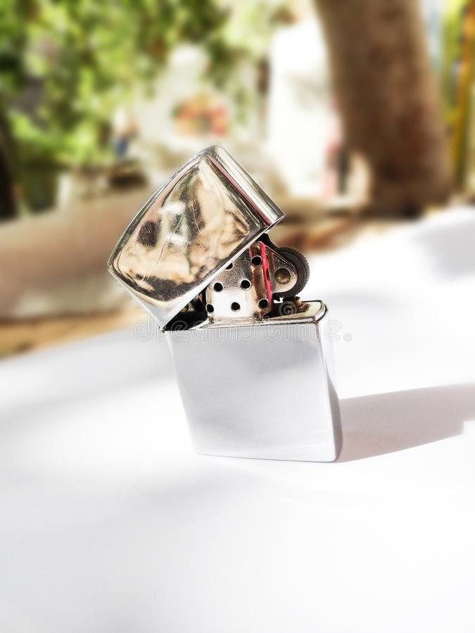 ελαφρύτερος Ανιχνευτής πυρκαγιάς Ένα δώρο για τους καπνιστές Αναπτήρας αναμνηστικών στοκ φωτογραφία με δικαίωμα ελεύθερης χρήσης