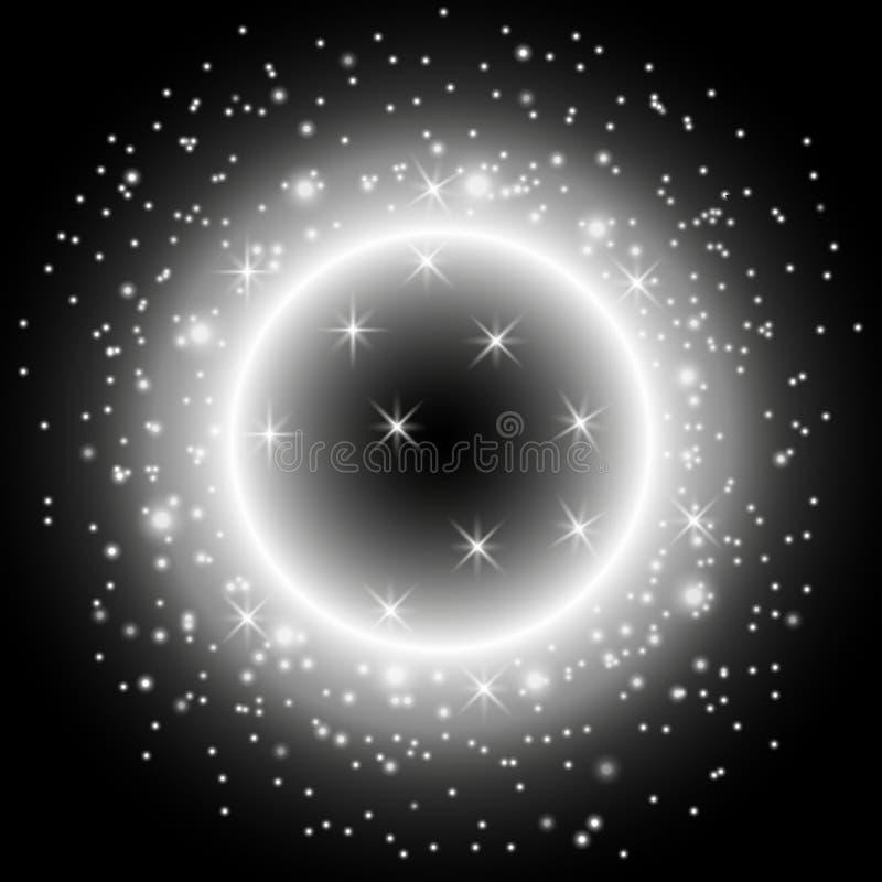 Ελαφρύ δαχτυλίδι με τη αίσθηση μαγείας, άσπρο χρώμα απεικόνιση αποθεμάτων
