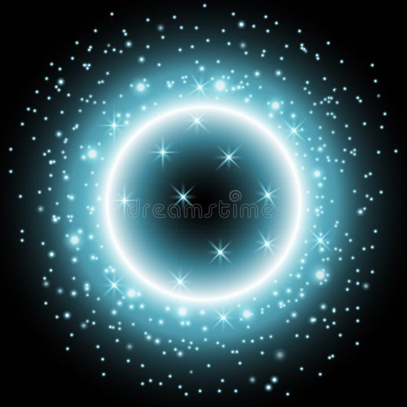 Ελαφρύ δαχτυλίδι με τη αίσθηση μαγείας, χρώμα aqua ελεύθερη απεικόνιση δικαιώματος