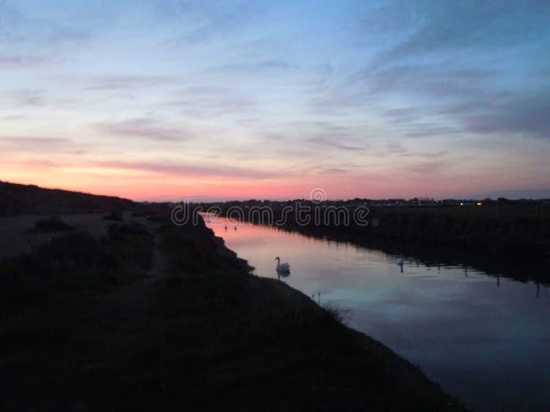 Ελαφρύ ηλιοβασίλεμα στοκ φωτογραφίες με δικαίωμα ελεύθερης χρήσης