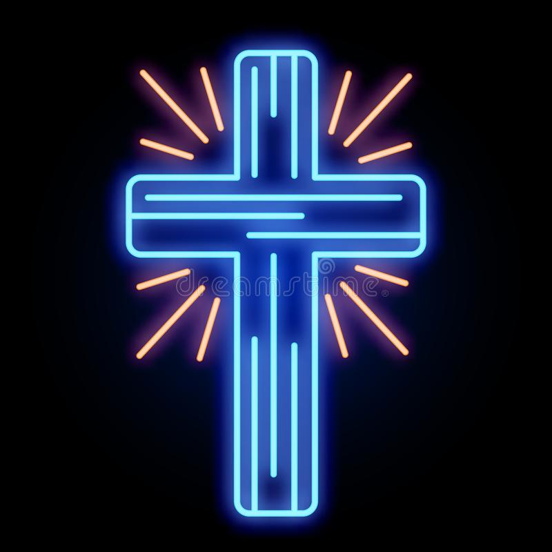 Ελαφρύ σημάδι του σταυρού εκκλησιών νέου ελεύθερη απεικόνιση δικαιώματος