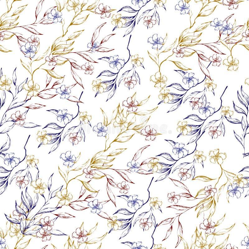 Ελαφρύ υπόβαθρο των κλάδων περιγράμματος με τα φύλλα Κομψή φυσική διακόσμηση Εκλεκτής ποιότητας σύσταση για τη διακόσμηση του υφά ελεύθερη απεικόνιση δικαιώματος
