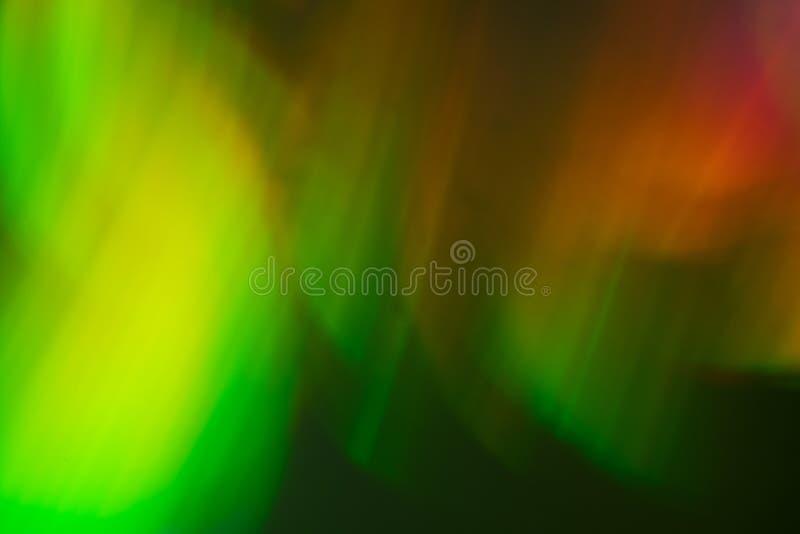 Ελαφρύ υπόβαθρο χρώματος νυχτερινού ουρανού βόρειων θαμπάδων bokeh απεικόνιση αποθεμάτων