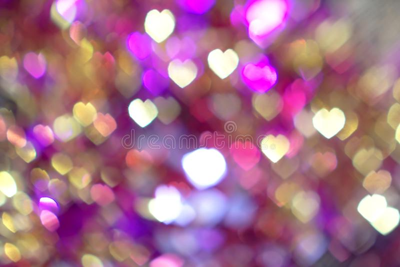 Ελαφρύ υπόβαθρο Bokeh καρδιών στοκ φωτογραφία