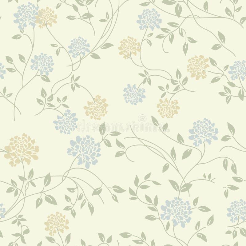 Ελαφρύ floral εκλεκτής ποιότητας άνευ ραφής πρότυπο ελεύθερη απεικόνιση δικαιώματος